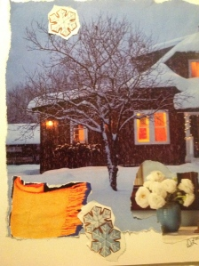 Contemplation and Collage on a cold winter's night